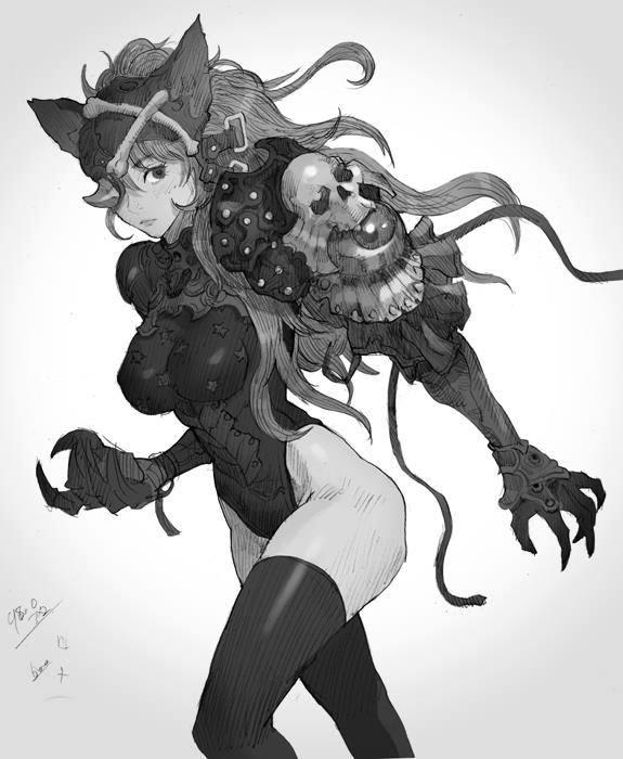 Galeria de Arte: Ficção & Fantasia 1 - Página 5 Cat_girl_by_kilartdev-d6c859b