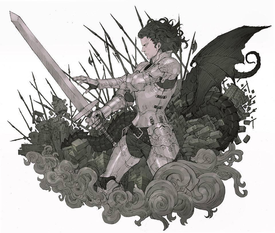 Galeria de Arte: Ficção & Fantasia 1 - Página 5 Dragon_knight_by_kilartdev-d6c85ci