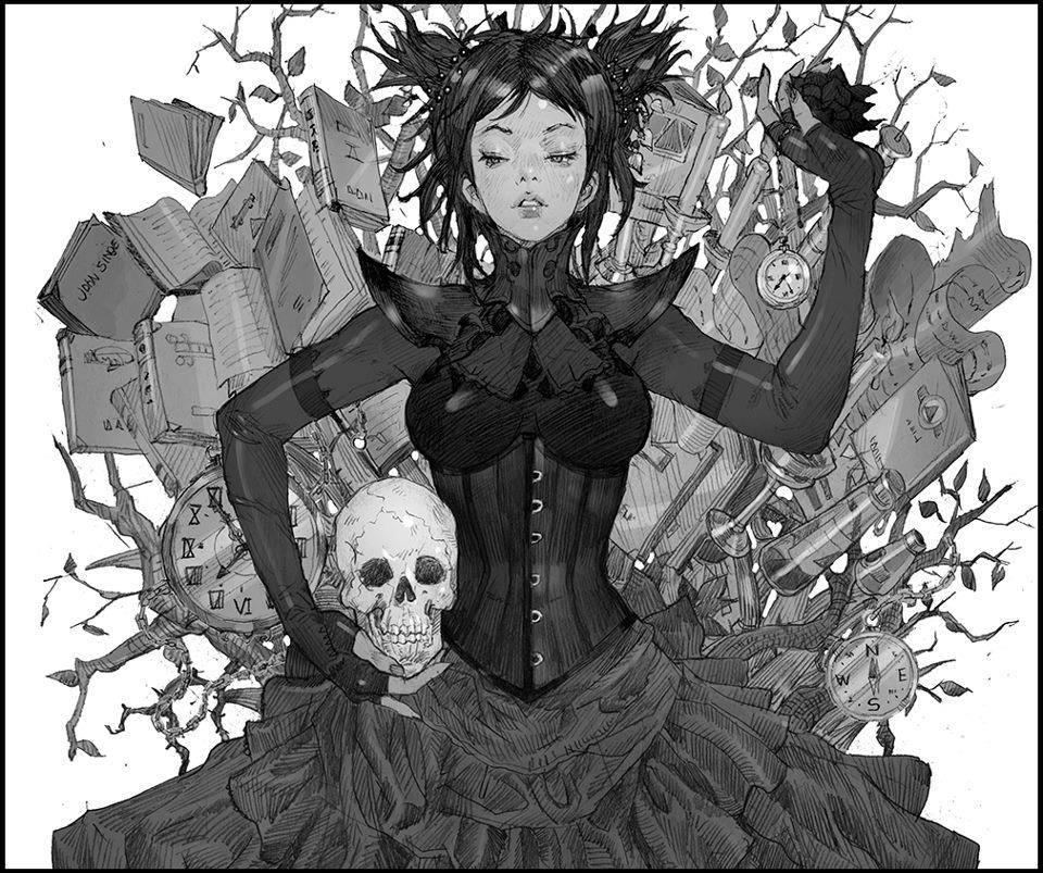 Galeria de Arte: Ficção & Fantasia 1 - Página 4 Witch_of_the_time_by_kilartdev-d6c85wr