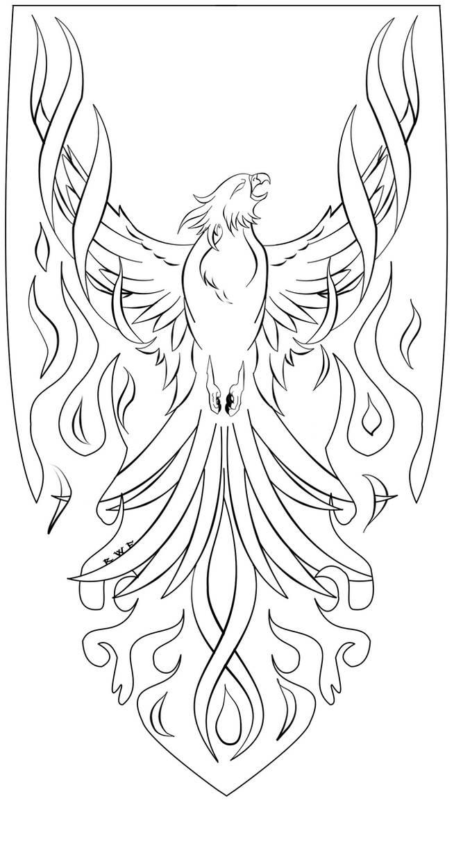 Phoenix Lineart