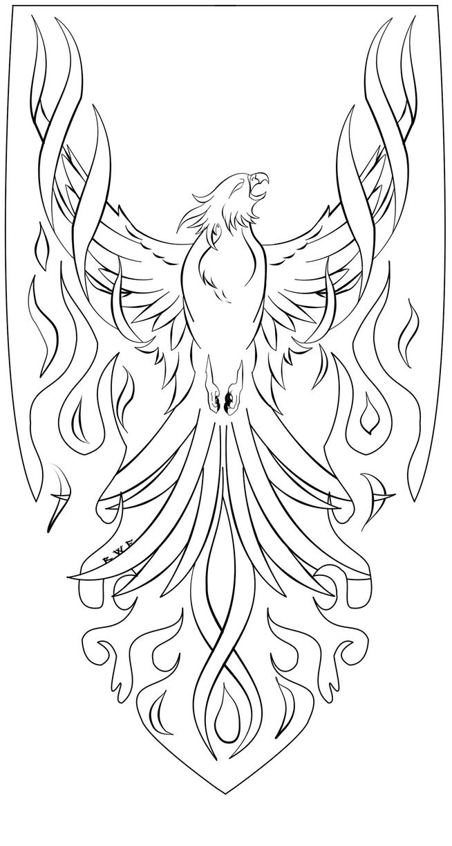 Phoenix Lineart by RavenWhitefang on DeviantArt