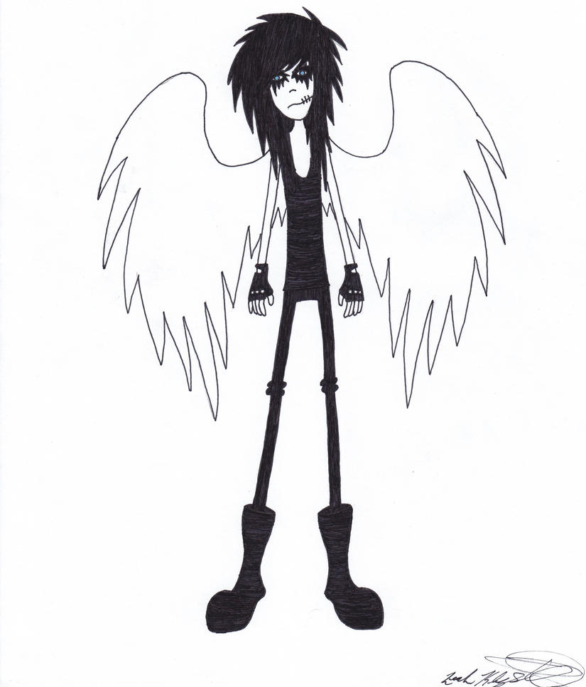 Andy The Fallen Angel by heavy-metal-chick