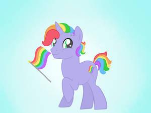 Pride Ponies 1 - LGBTQ flag
