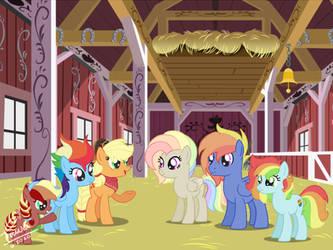 Rainbow Dash x Applejack next gen family