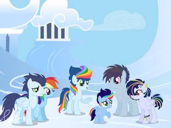 Rainbow Dash x Soarin' Family