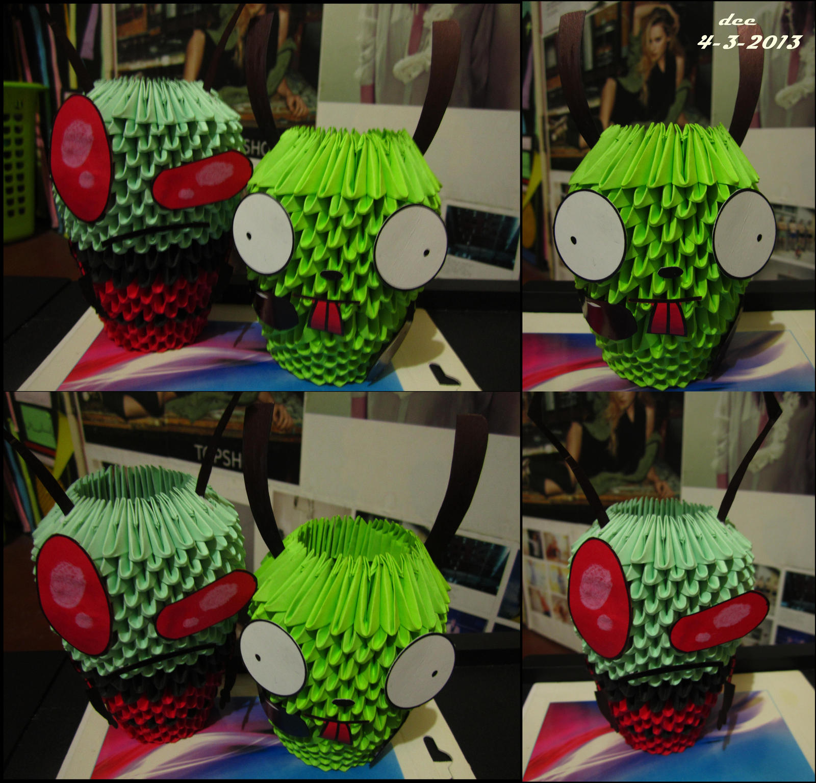 Invader Zim 3D Origami by deerexx on DeviantArt - photo#12