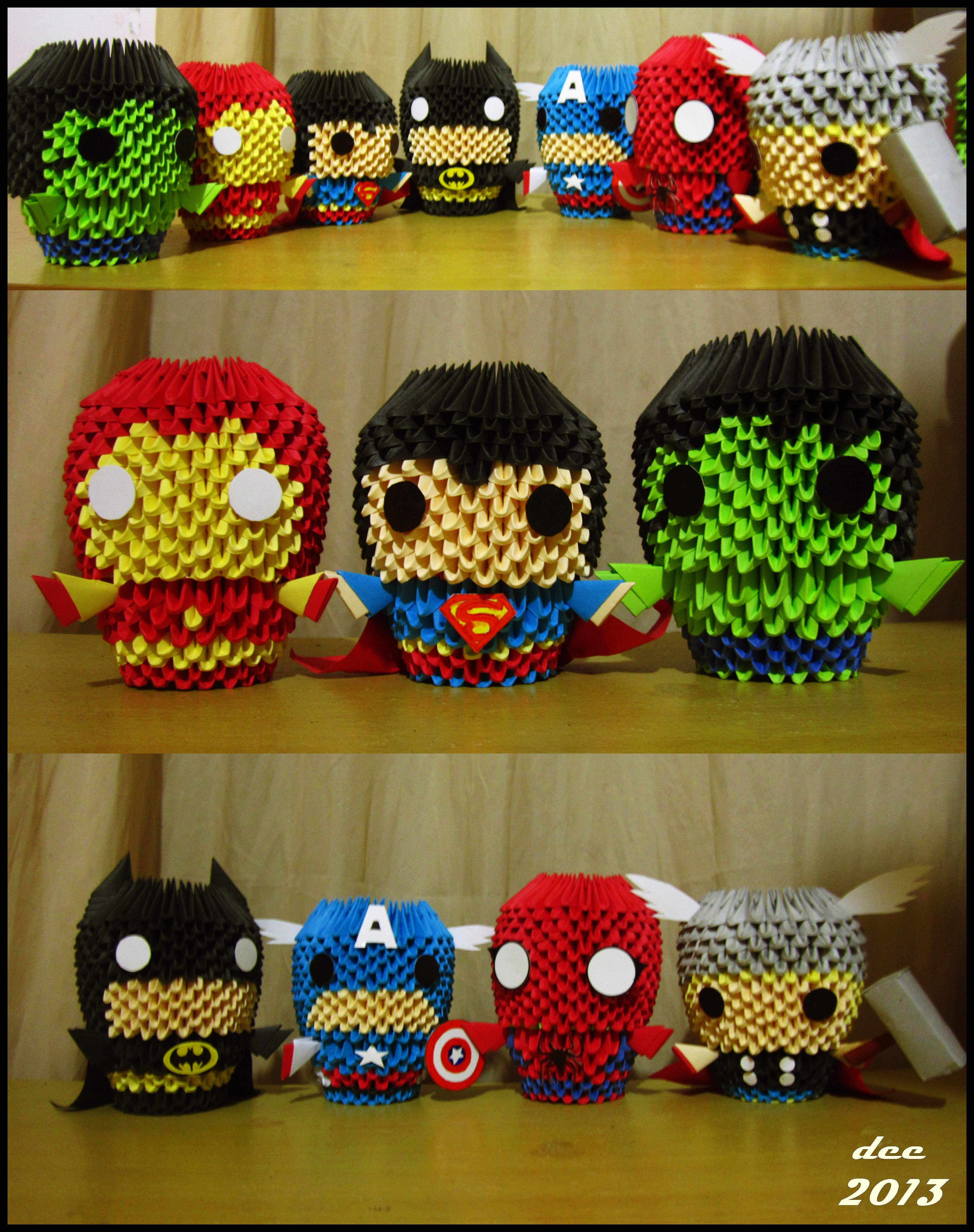 Marvel superheroes 3d origami by deerexx on deviantart - Origami 3d animaux ...