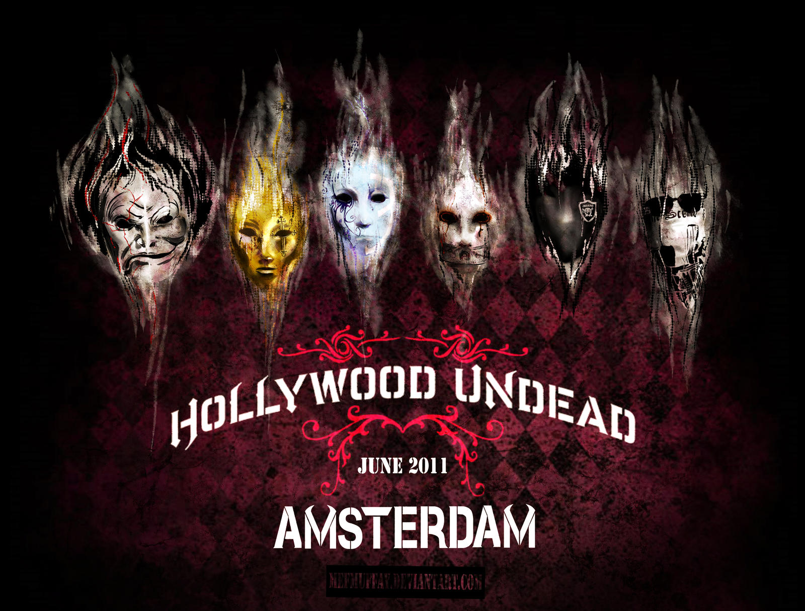 Hollywood Undead masks by Nyamesiss
