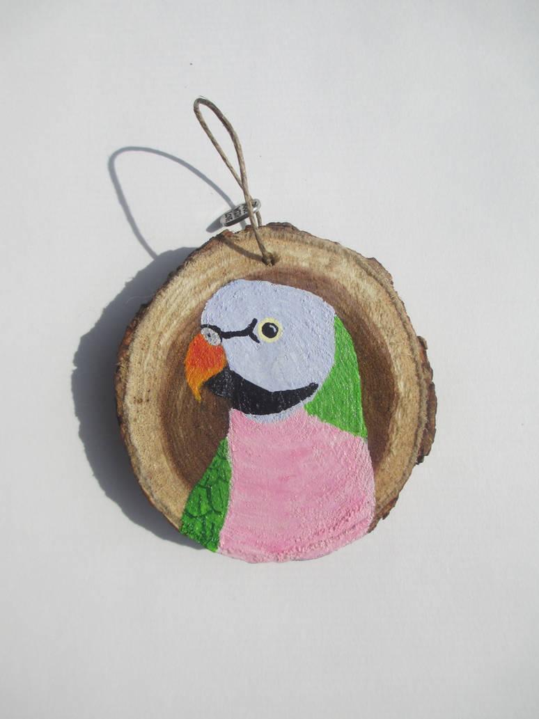 Mustache Parakeet Ornament by MadalynC on DeviantArt