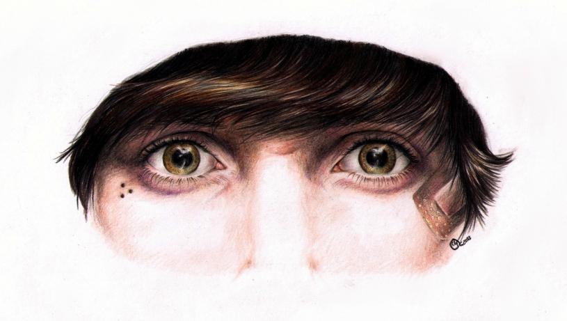 Oliver Sykes' Eyes by SilkSpectreII