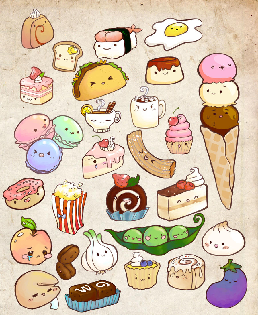 Kawaii food dump by gourmet vomit on deviantart - Stickers cuisine enfant ...
