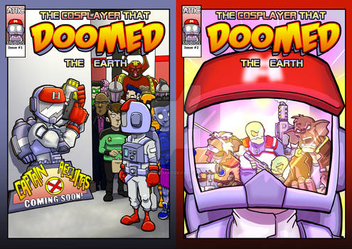 The covers to issue 1 and 2 of my upcoming comic