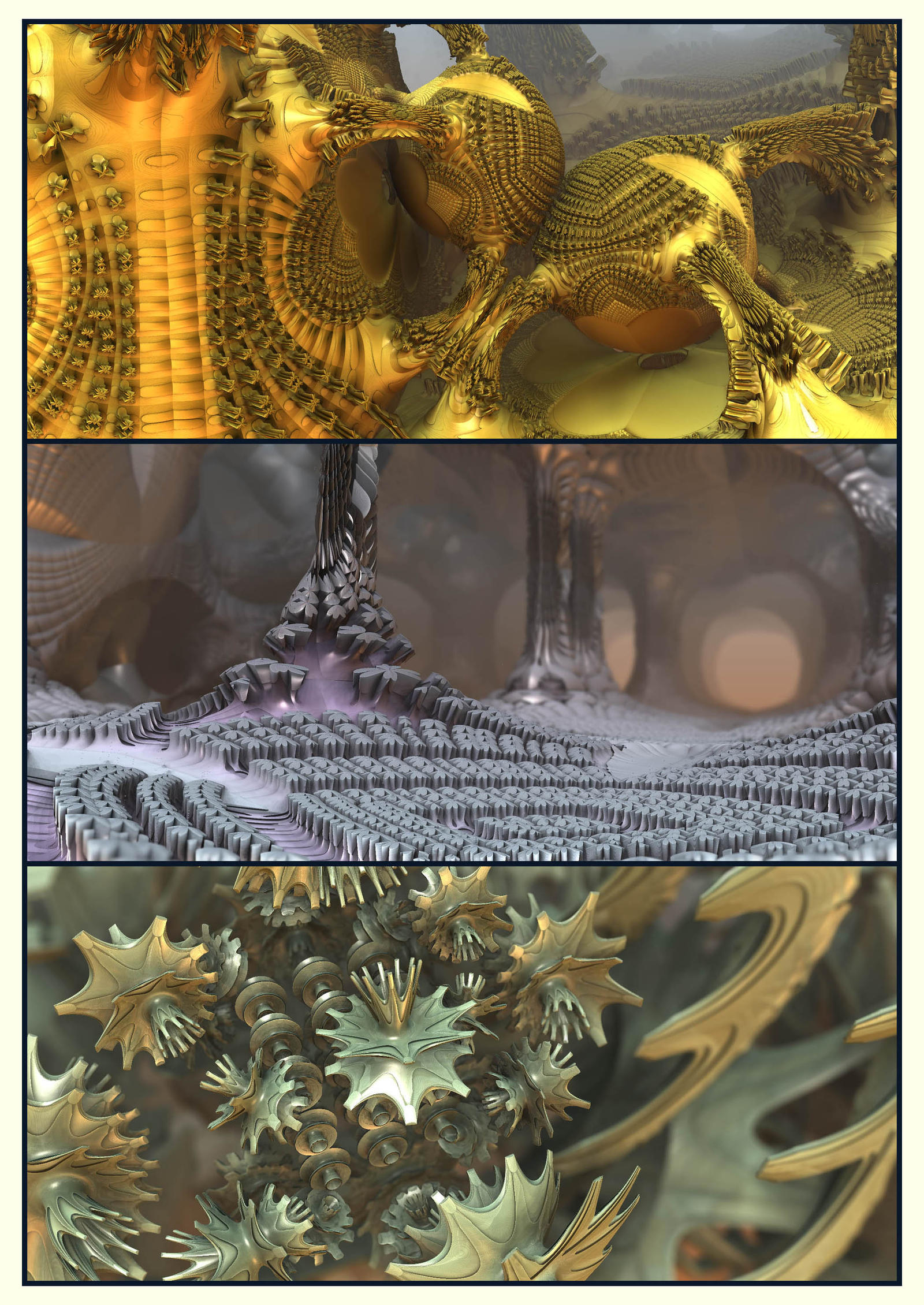 The Undead Triptych by bluefish3d