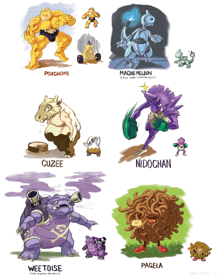 Pokemon Fusion Team by dkirbyj