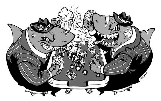 Inktober 2019 Day21 - Drinkin' Smokin' and Gamblin