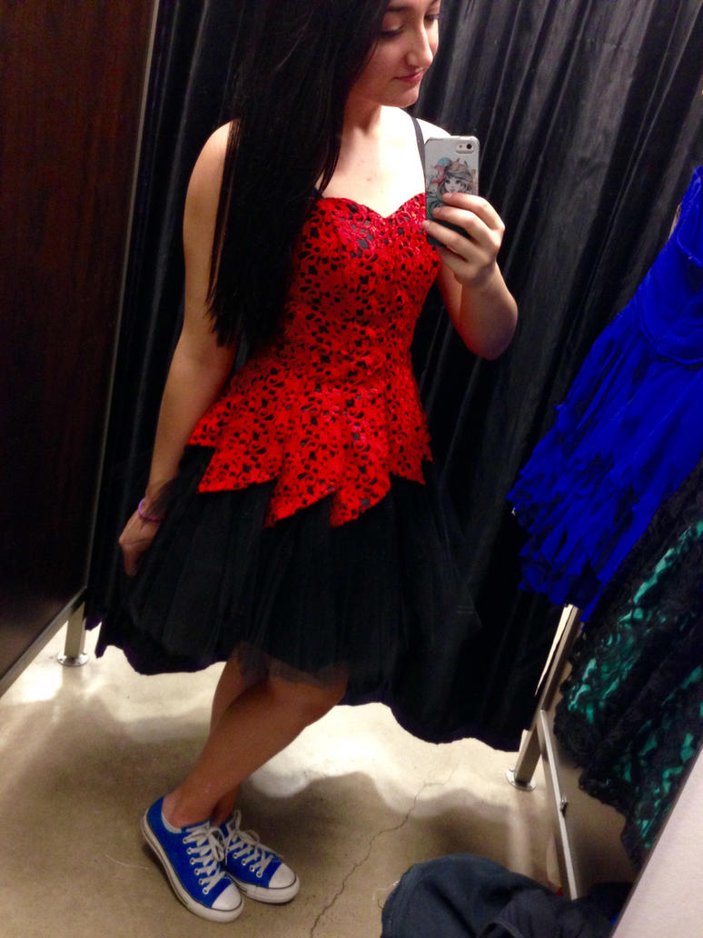 off Selfie prom dress