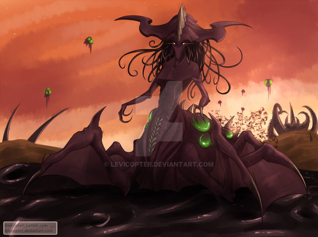 Overqueen Zagara By Levicopter On Deviantart While inside a nydus worm, zagara regenerates 10% health and mana per second. overqueen zagara by levicopter on
