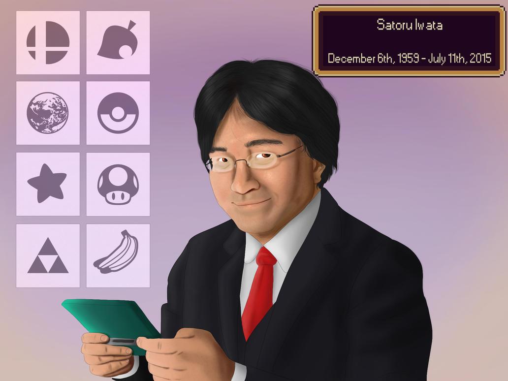 Satoru Iwata by PitchblackDragon