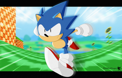 Classic Sonic by PitchblackDragon