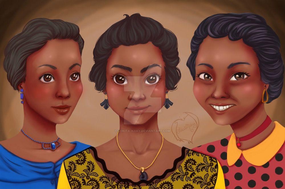 Wizard portraits: Three Sisters by Lokita-Naky