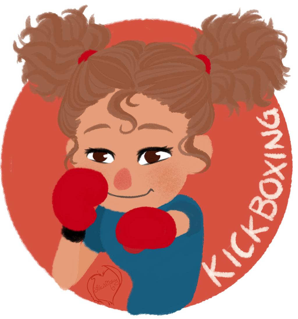 Chibi Mascot - Kickboxing  by Lokita-Naky