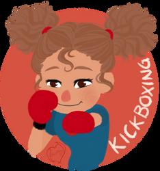 Chibi Mascot - Kickboxing