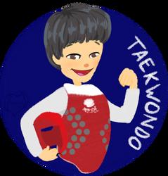 Chibi Mascot - Taekwondo