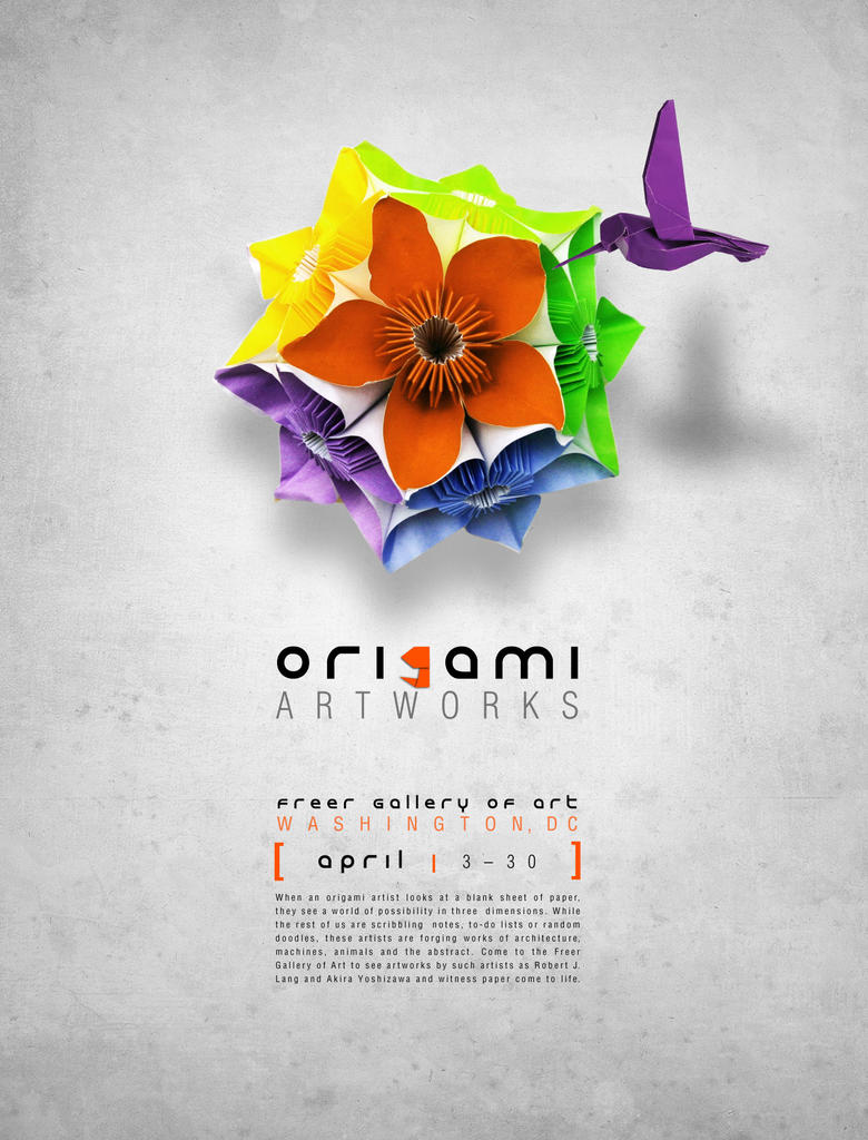 Origami Design Poster Artist Who Has Published Many Books On Topics Like Quotorigami