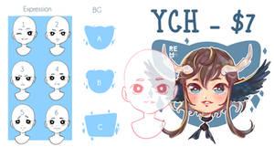 [YCH] Headshot CHIBI [OPEN]