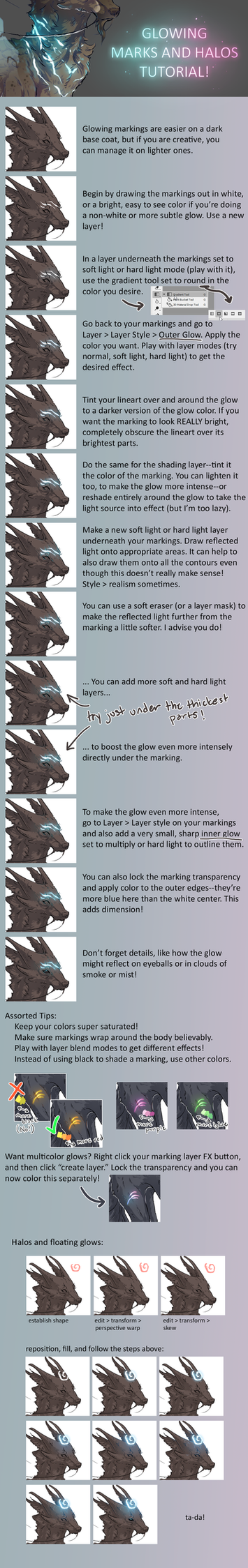 Glowing Marks and Halos tutorial for adoptables by rejamrejam