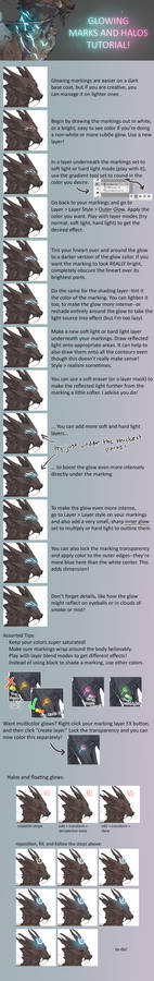 Glowing Marks and Halos tutorial for adoptables