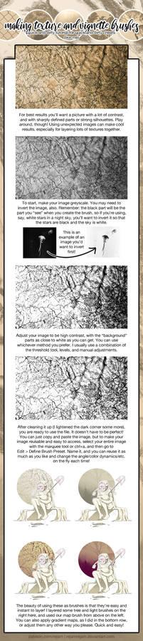 Cheater texture and vignette BG brushes tutorial