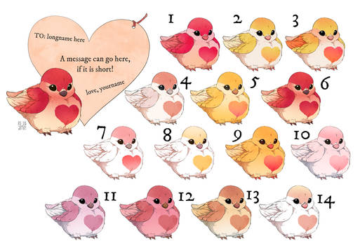 CLOSED Lovebird Valentine's Grams!