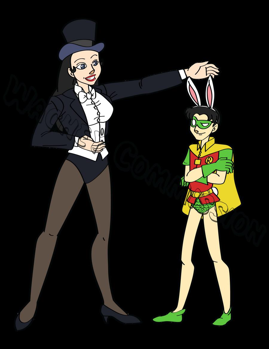 Commission Zatanna and Robin by wacheyZatanna And Robin