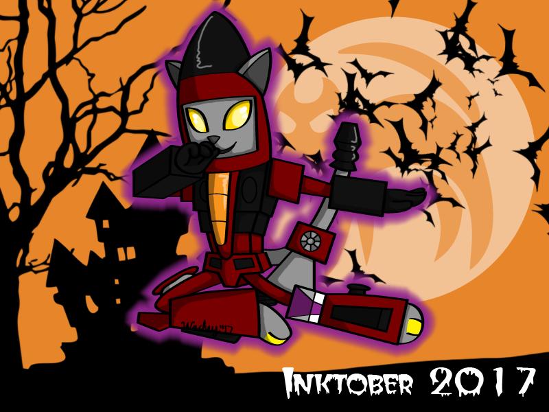 Inktober Day 13 - Thrust Kitty by wachey