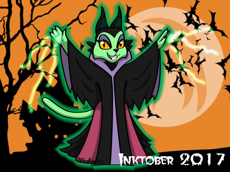 Inktober Day 16 - Maleficent by wachey