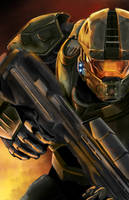 Master Chief by StevePalenicaStudios