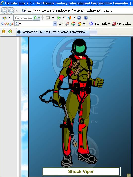 Shock Viper Hero Machine by Ironhold