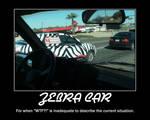 Demotivational: Zebra Car