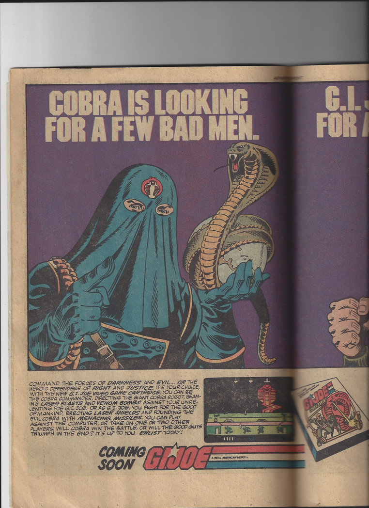 vintage 1983 G. I. Joe ad, page 1 by Ironhold