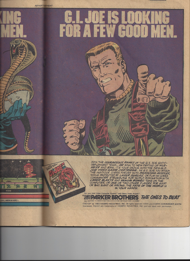 vintage 1983 G. I. Joe ad, page 2 by Ironhold