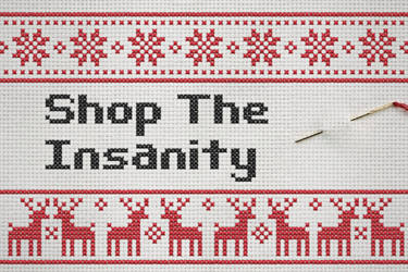 Shop The Insanity - Christmas Logo by Ironhold