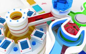 WALLPAPER : Chromatic toys3 by k3-studio