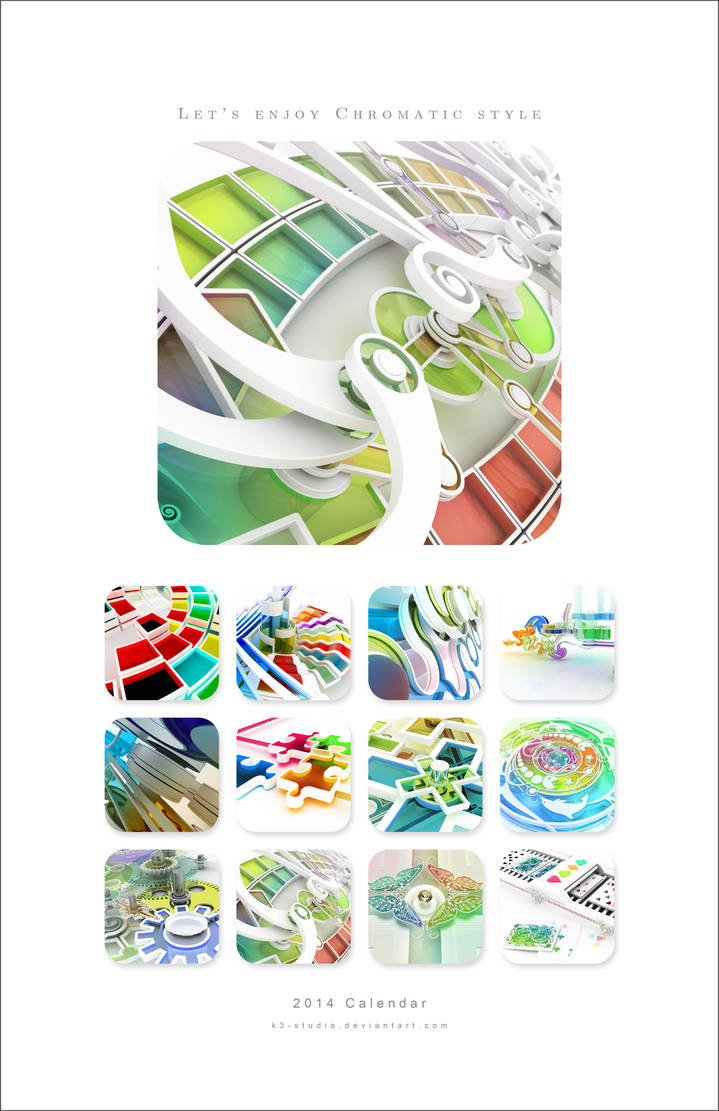 2010 Chromatic calendar by k3-studio