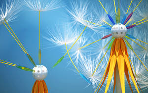 Dandelion seeds by k3-studio