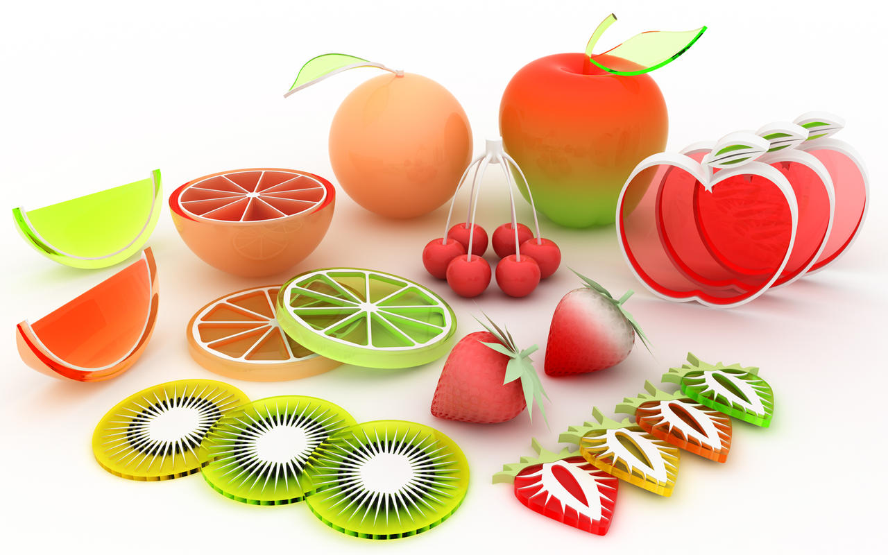 Fruits 3d wallpapers -  Fruit Picking By K3 Studio