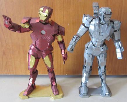 Metal Earth - War Machine and Iron man