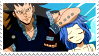 Gajeel x Levy Stamp by whiteflamingo