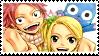 Natsu Lucy Happy Stamp by whiteflamingo