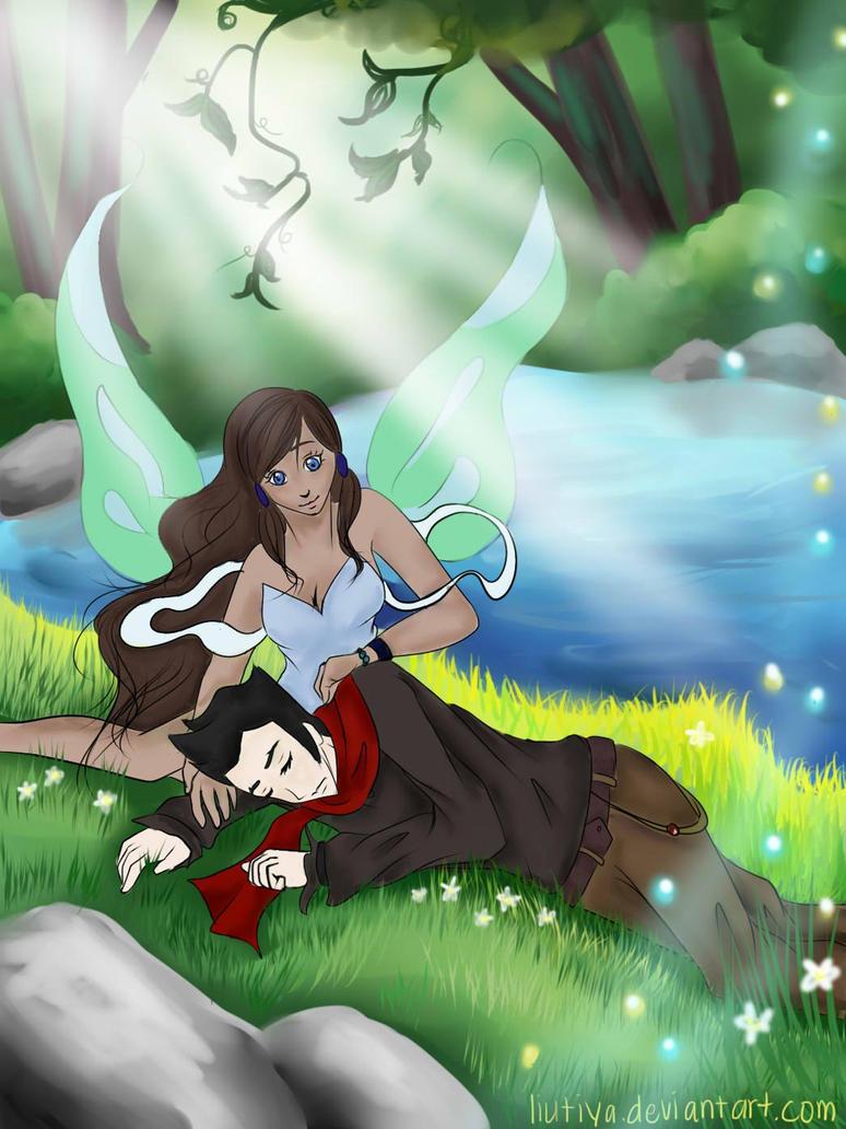 :Makorra Week Day 1: Fantasy by liutiya